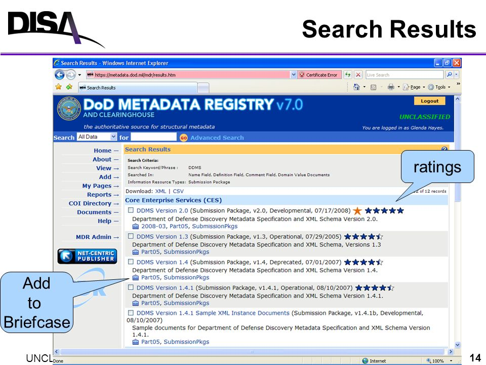 Search Results ratings Add to Briefcase