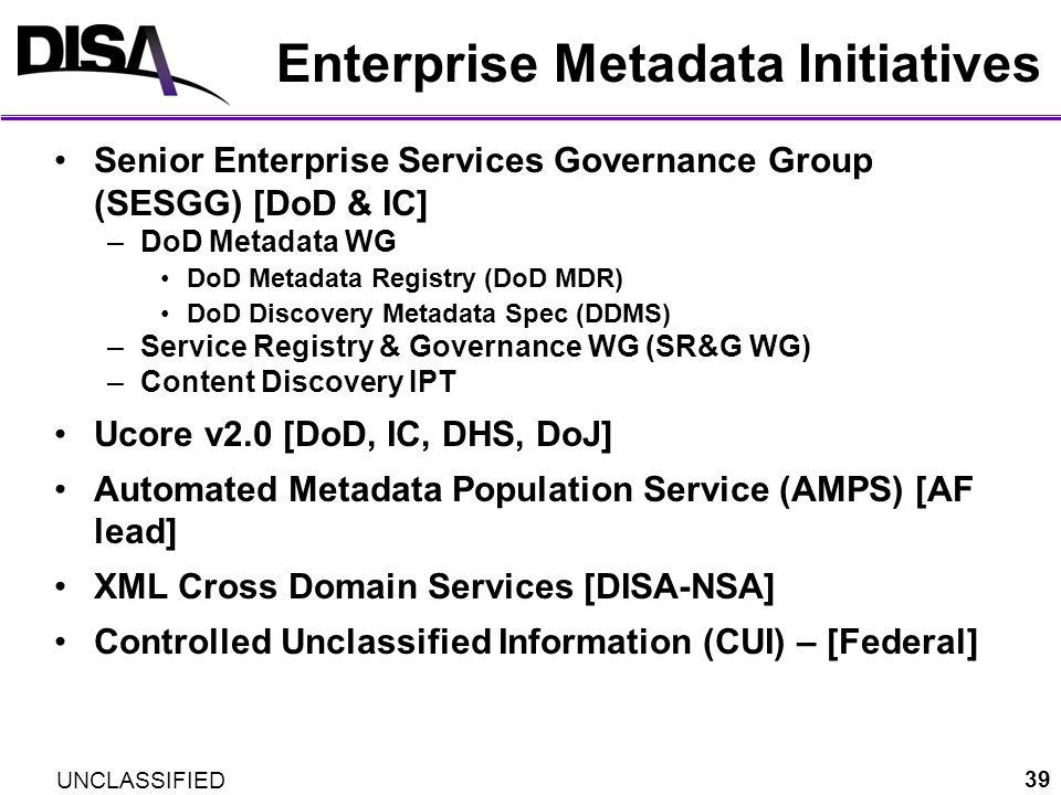 Enterprise Metadata Initiatives