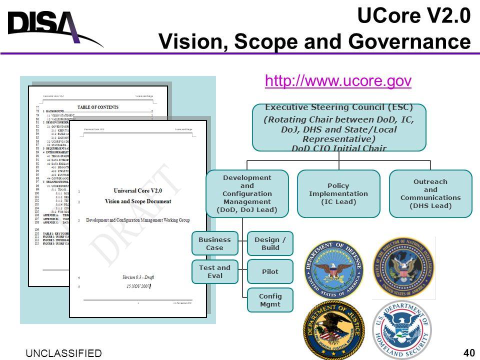 UCore V2.0 Vision, Scope and Governance