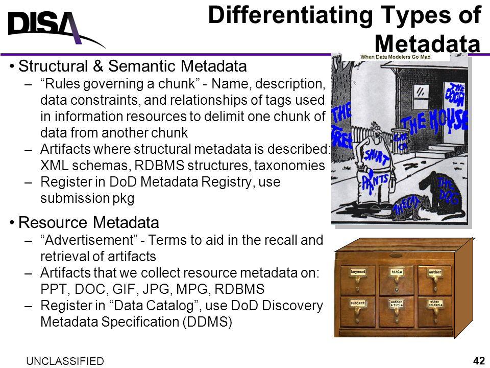 Differentiating Types of Metadata