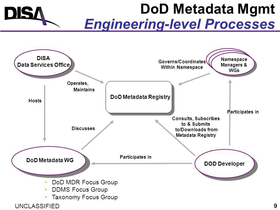 DoD Metadata Mgmt Engineering-level Processes