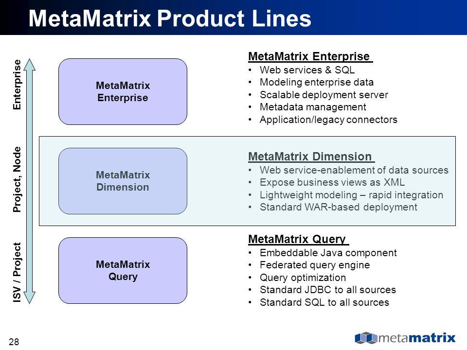 MetaMatrix Product Lines