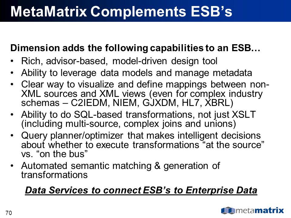 MetaMatrix Complements ESB's