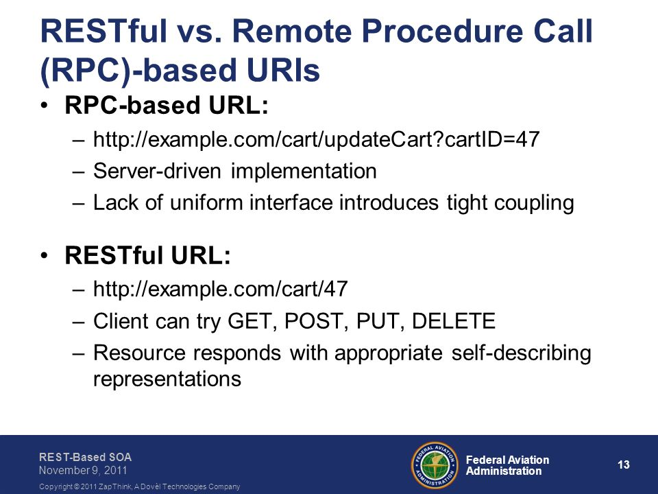 RESTful vs. Remote Procedure Call (RPC)-based URIs