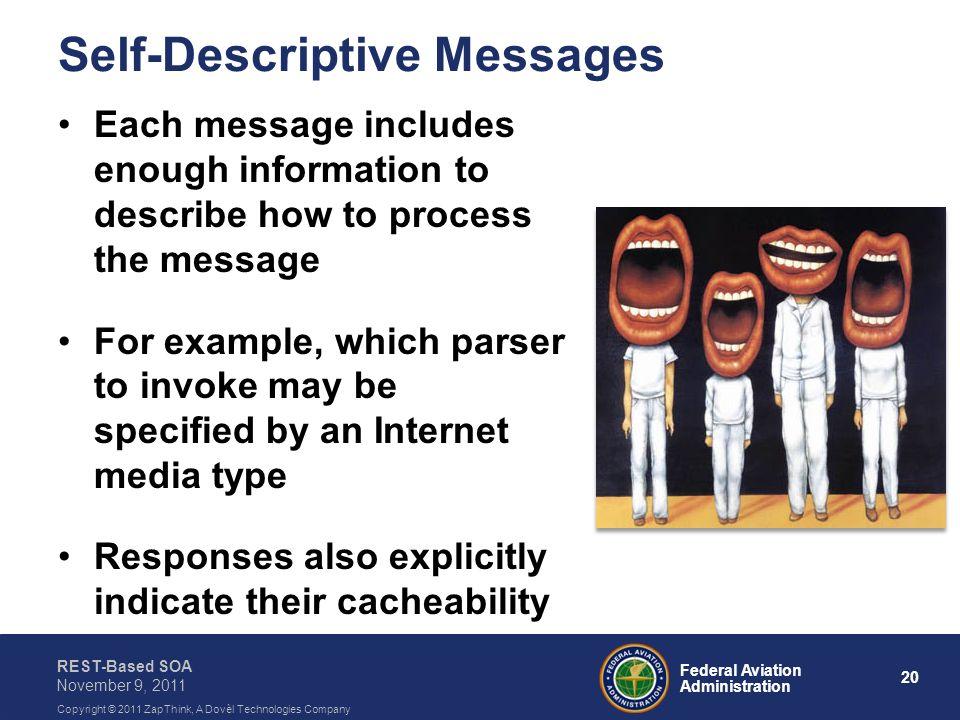 Self-Descriptive Messages