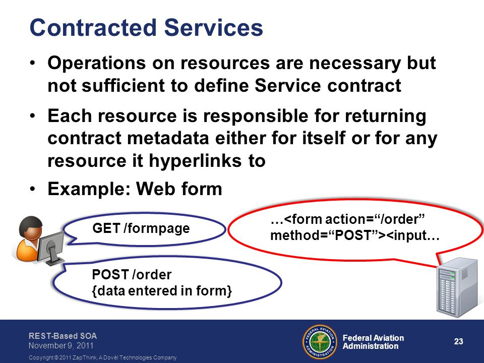 Contracted Services Operations on resources are necessary but not sufficient to define Service contract.