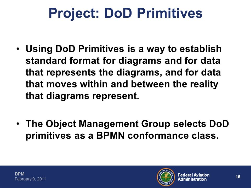 Project: DoD Primitives