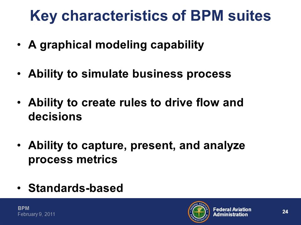 Key characteristics of BPM suites
