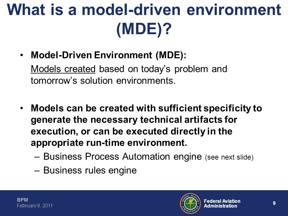 What is a model-driven environment (MDE)