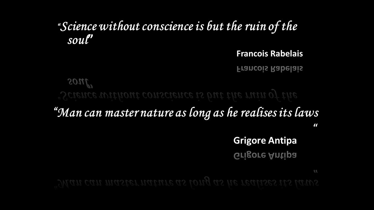 science without conscience is a ruin of nature essay Have struggled to comprehend the nature of consciousness and consciousness (french: conscience) although p-consciousness without a-consciousness is.