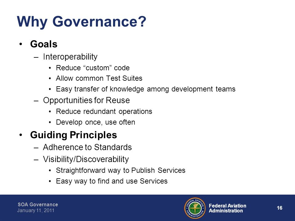 Why Governance Goals Guiding Principles Interoperability