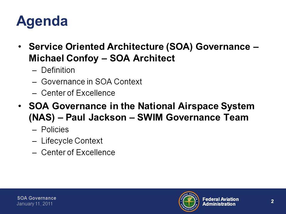 Agenda Service Oriented Architecture (SOA) Governance – Michael Confoy – SOA Architect. Definition.