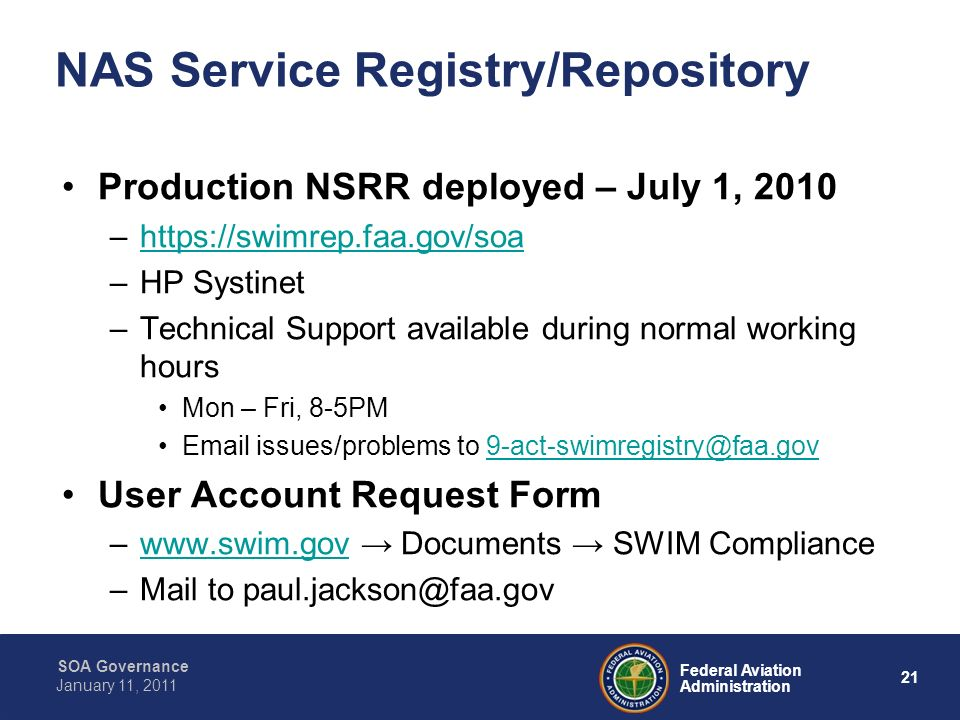 NAS Service Registry/Repository