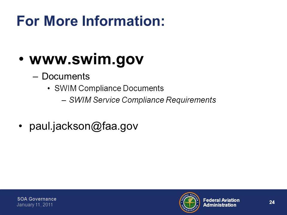 www.swim.gov For More Information: paul.jackson@faa.gov Documents