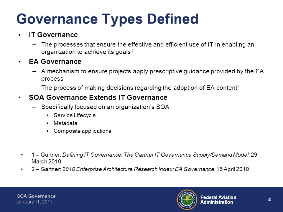 Governance Types Defined