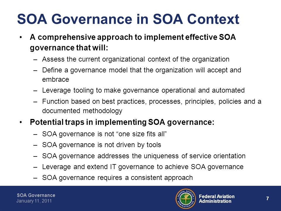 SOA Governance in SOA Context