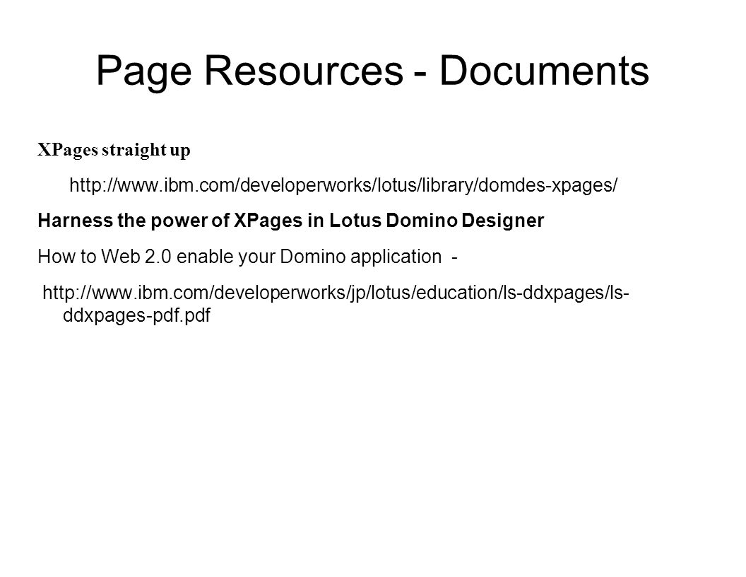 Page Resources - Documents