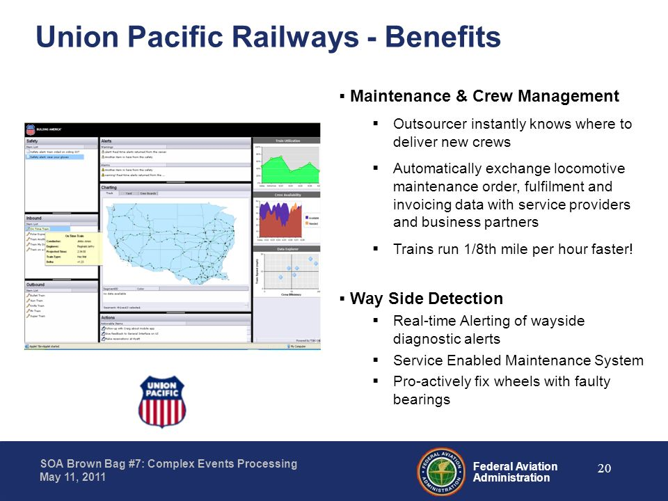 Union Pacific Railways - Benefits