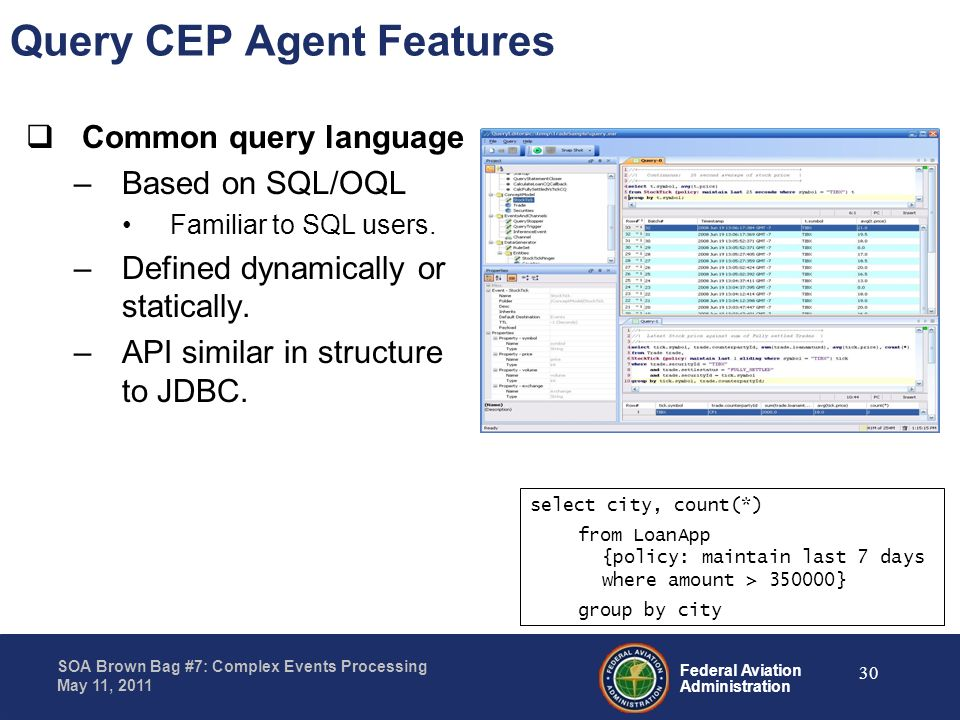 Query CEP Agent Features