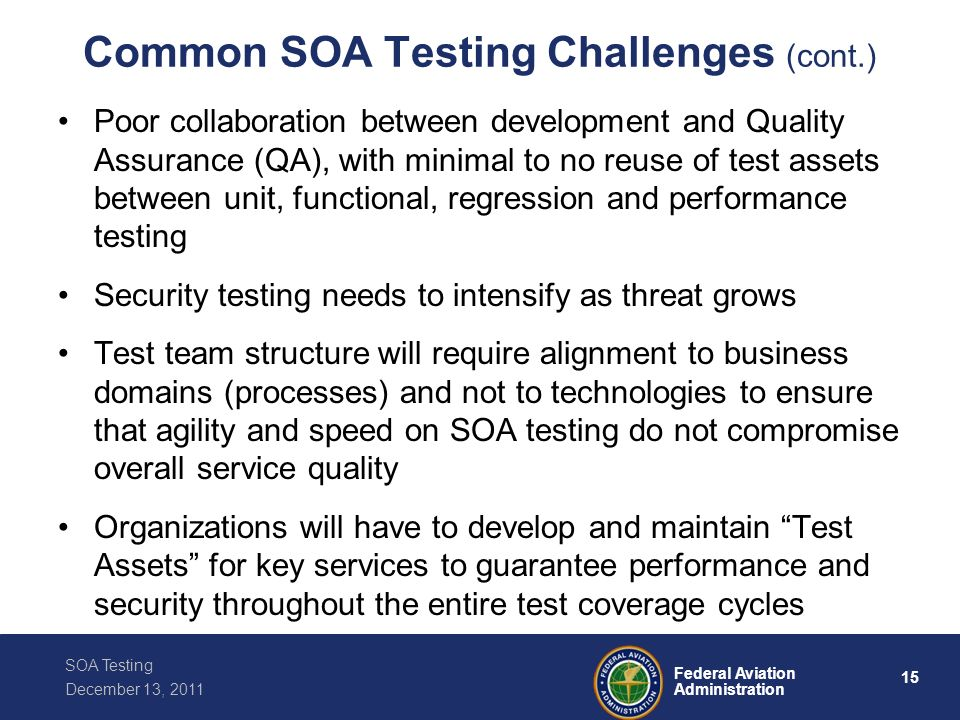 Common SOA Testing Challenges (cont.)