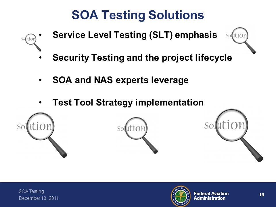 SOA Testing Solutions Service Level Testing (SLT) emphasis