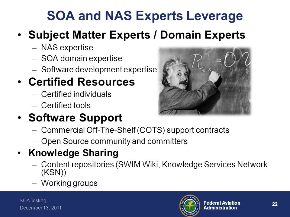 SOA and NAS Experts Leverage