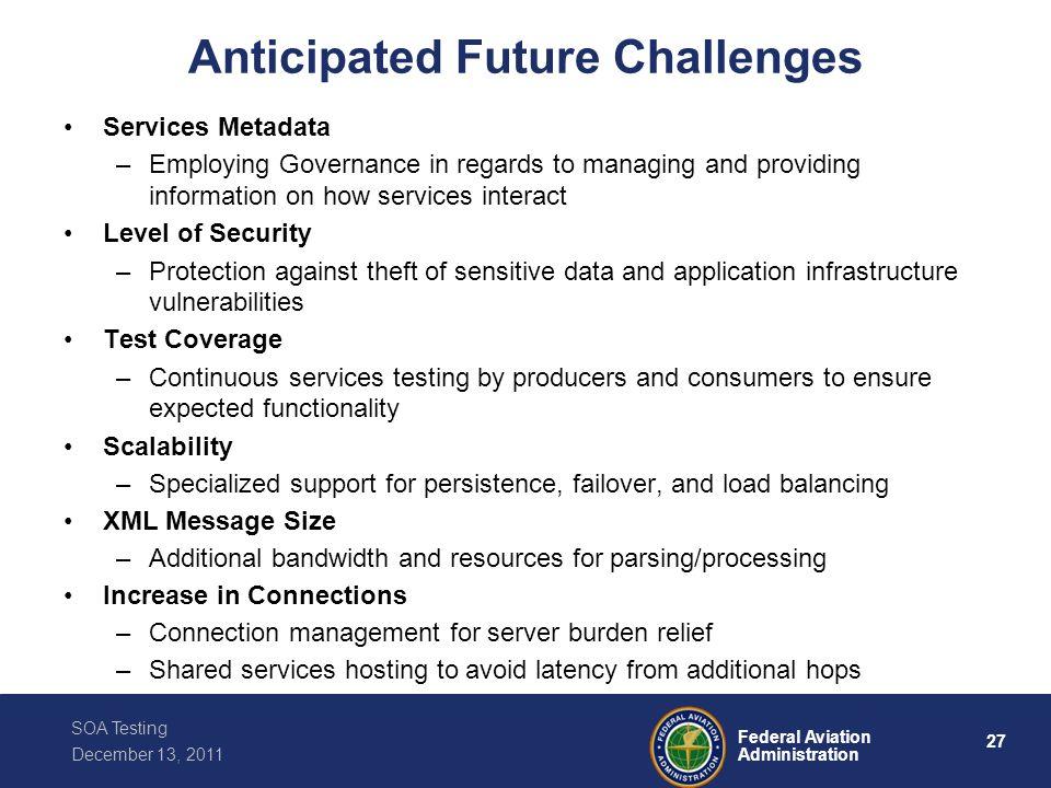 Anticipated Future Challenges