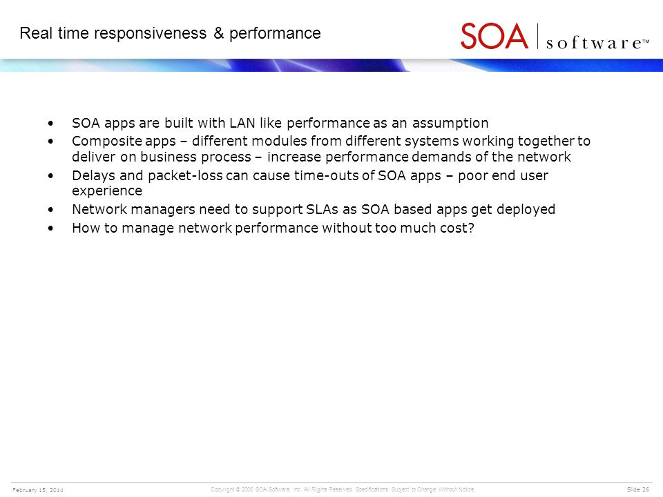 Real time responsiveness & performance