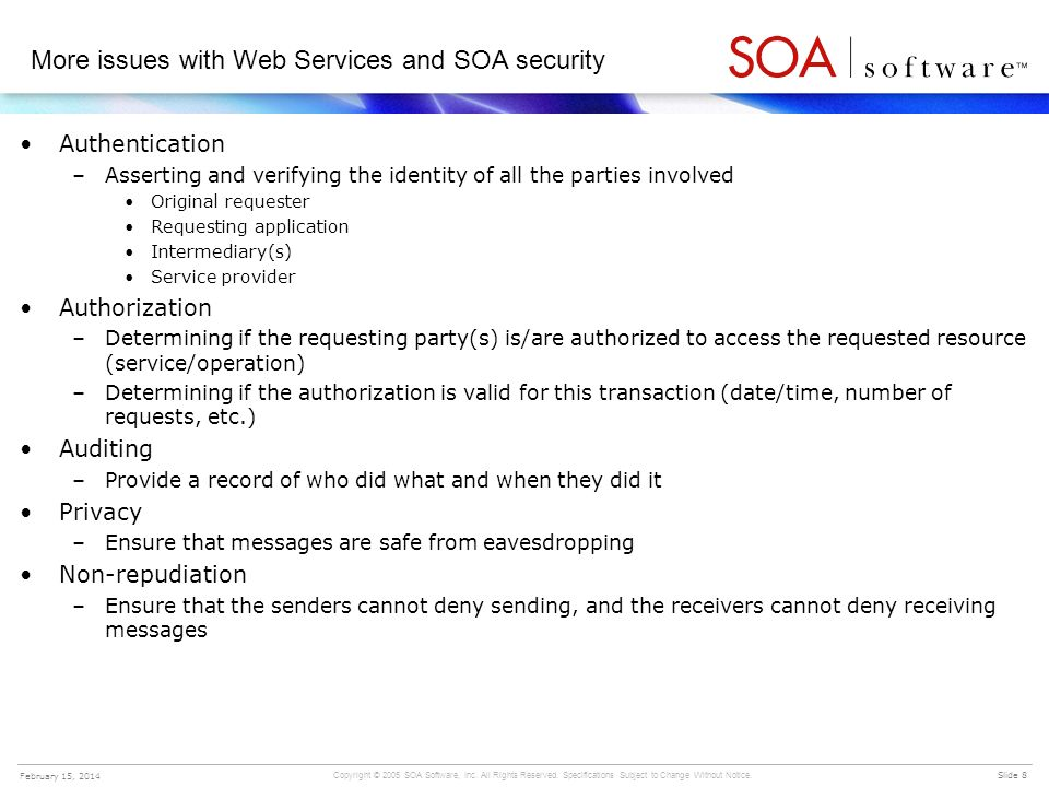 More issues with Web Services and SOA security