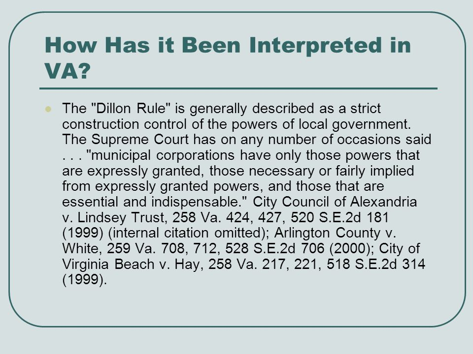 How Has it Been Interpreted in VA