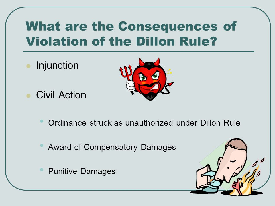 What are the Consequences of Violation of the Dillon Rule