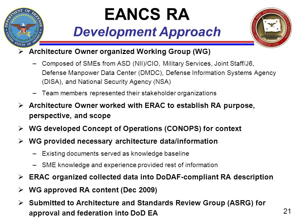EANCS RA Development Approach