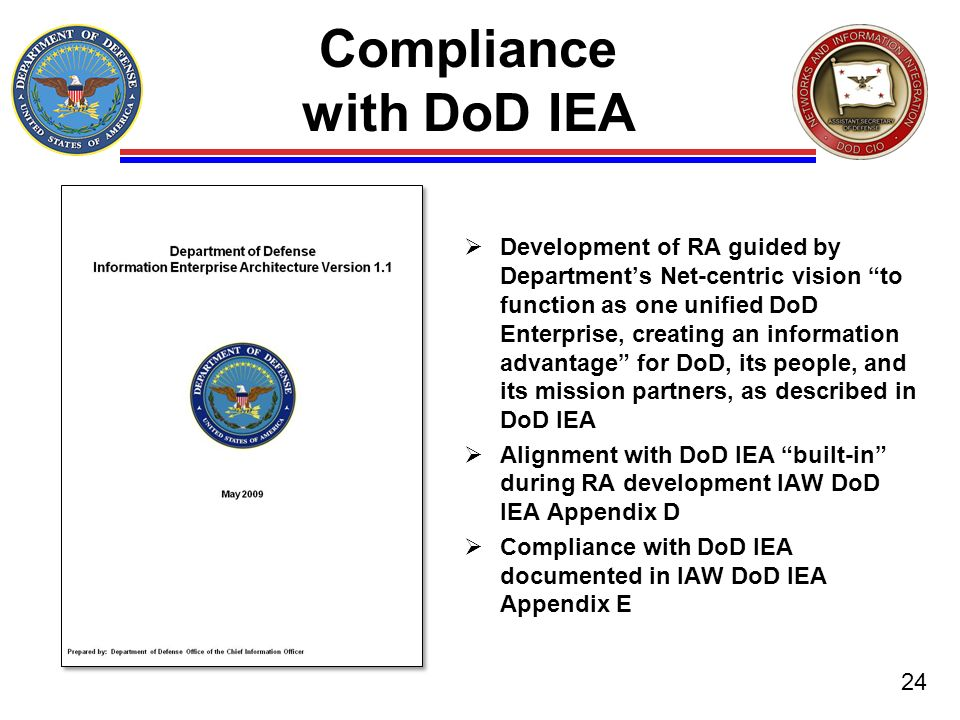 Compliance with DoD IEA