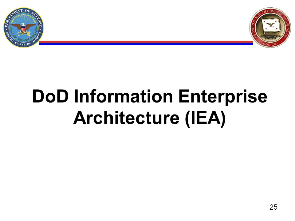 DoD Information Enterprise Architecture (IEA)
