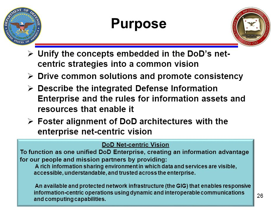 DoD Net-centric Vision