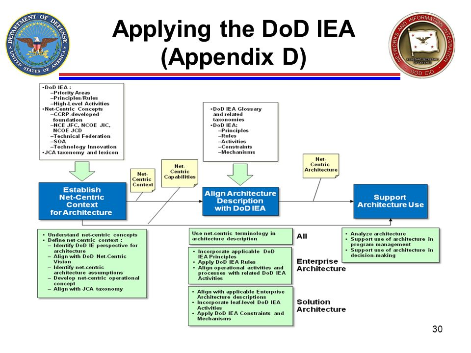 Applying the DoD IEA (Appendix D)