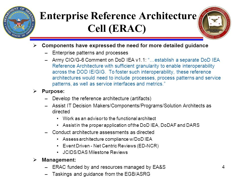 Enterprise Reference Architecture Cell (ERAC)