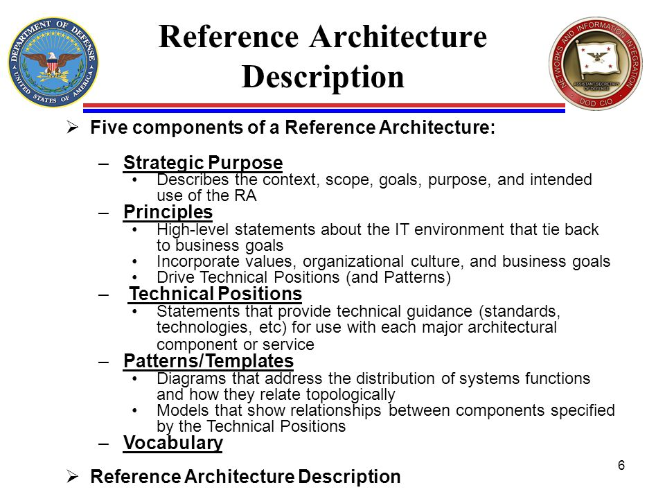Reference Architecture Description