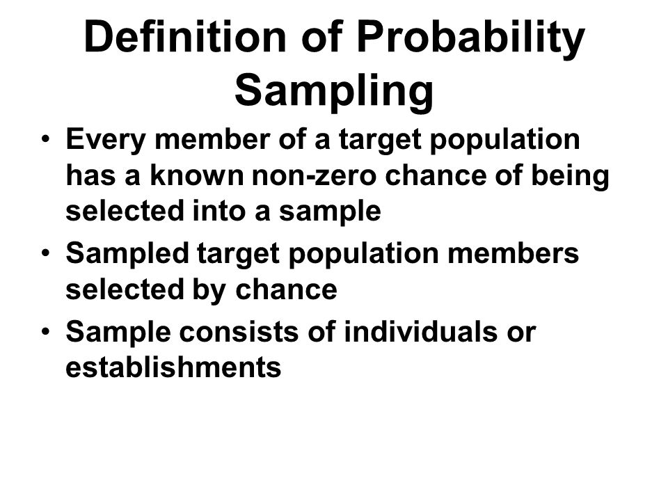 Definition of Probability Sampling