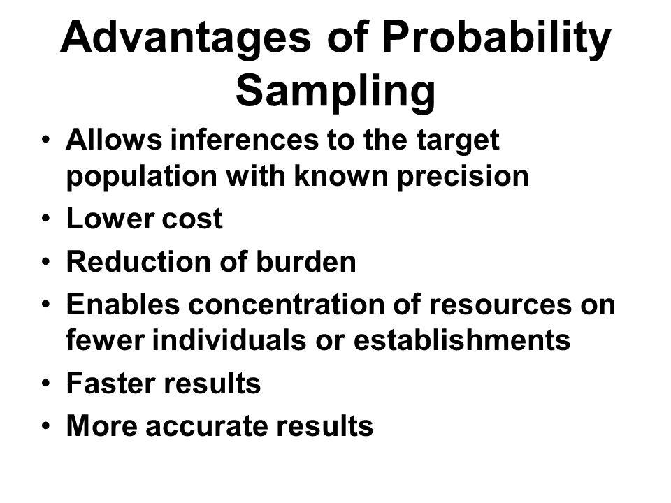 Advantages of Probability Sampling