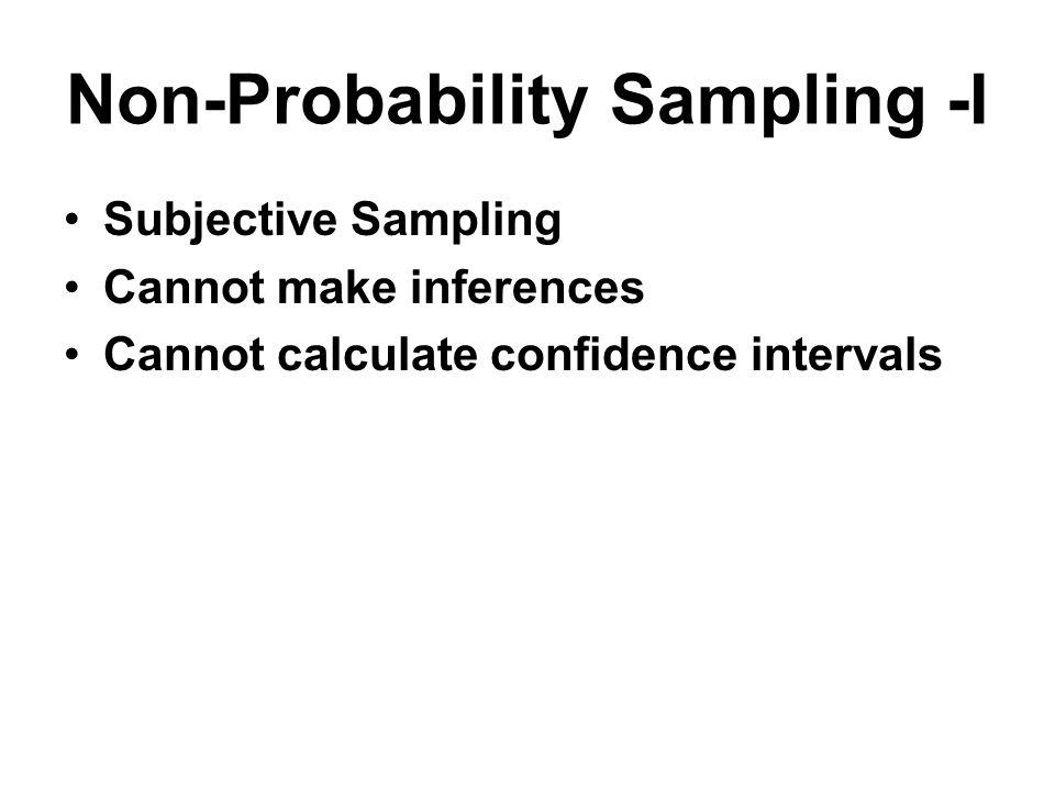 Non-Probability Sampling -I