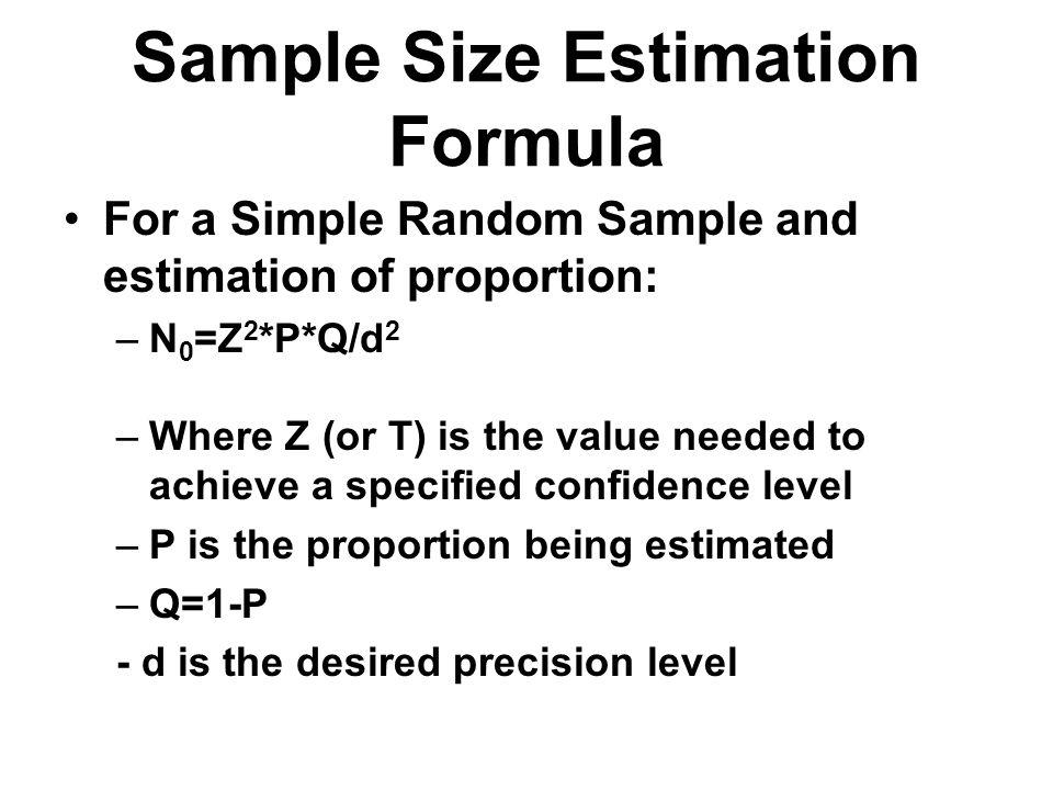 Sample Size Estimation Formula
