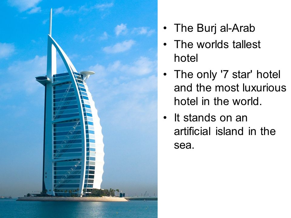 Welcome to dubai uae ppt video online download for Burj al arab the most luxurious hotel