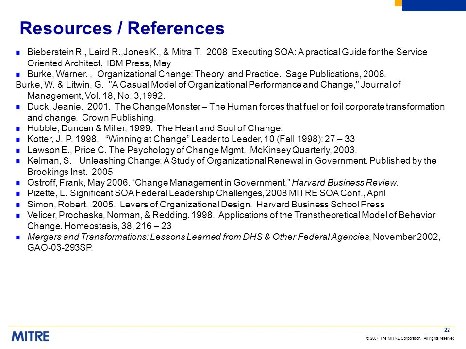 Resources / References