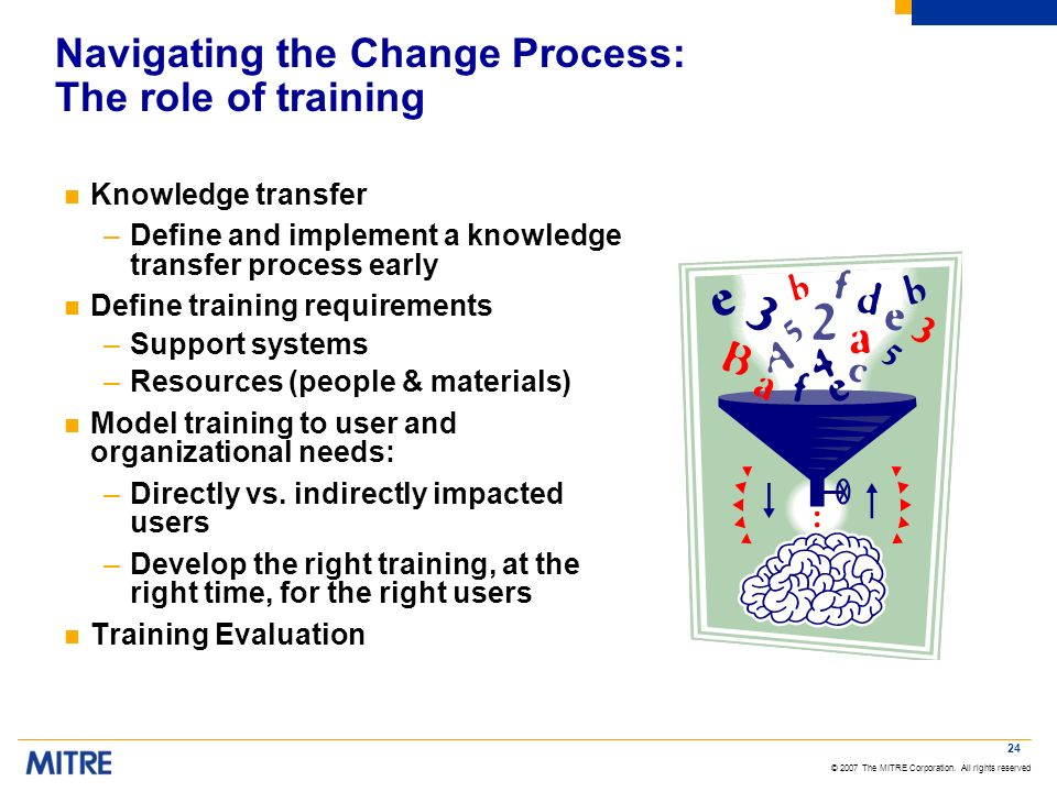 Navigating the Change Process: The role of training