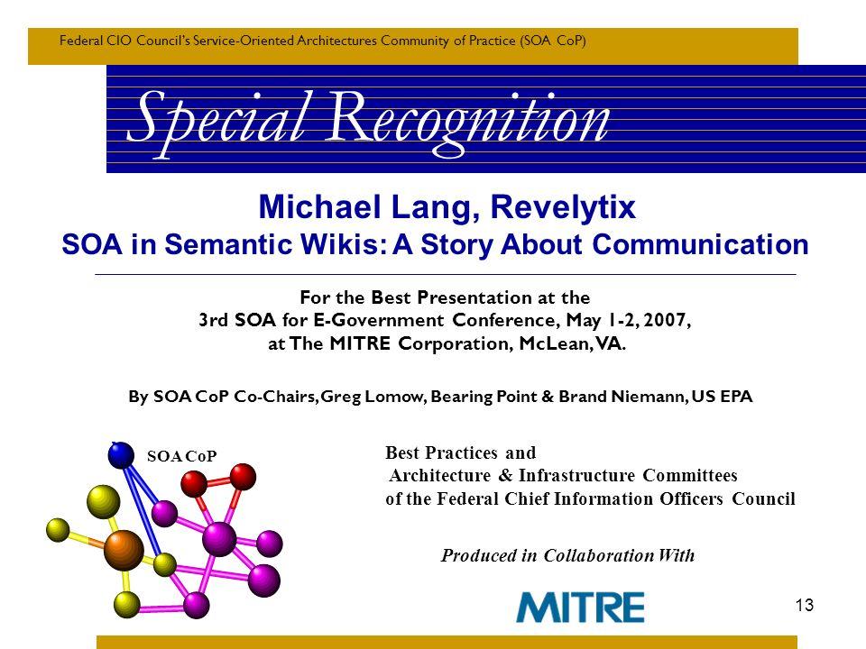 Michael Lang, Revelytix