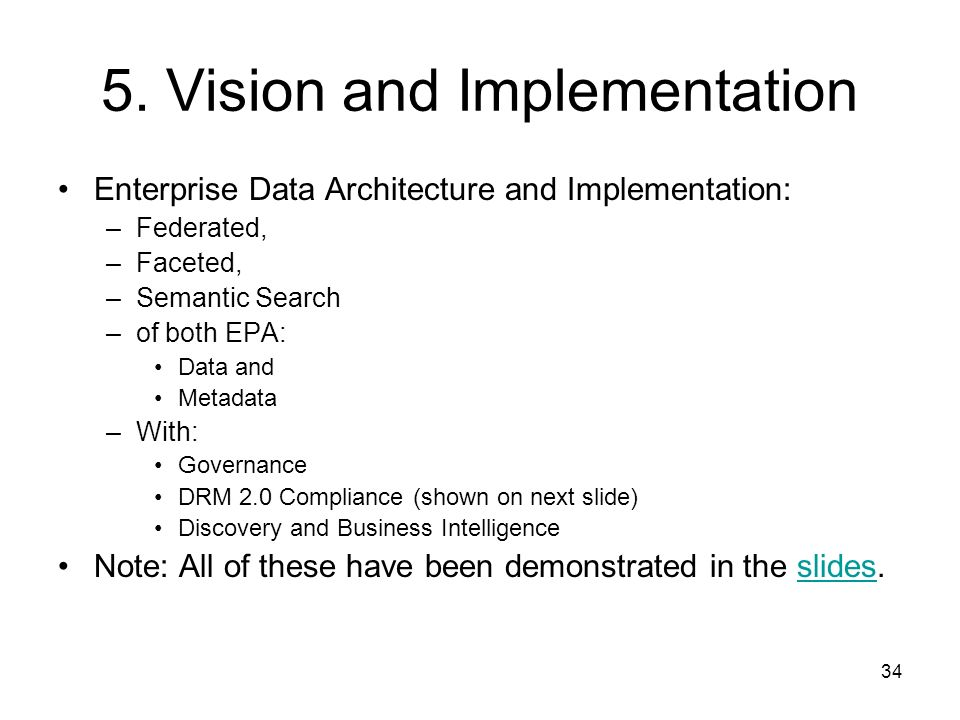 5. Vision and Implementation
