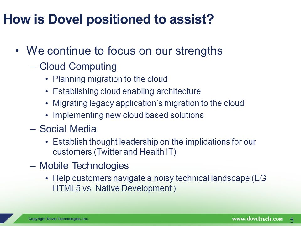 How is Dovel positioned to assist