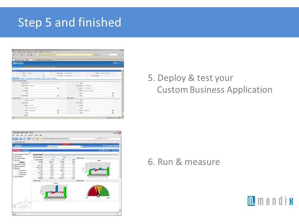 Step 5 and finished 5. Deploy & test your Custom Business Application