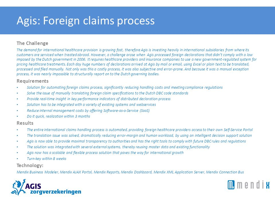 Agis: Foreign claims process